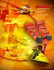 Odyssey Battery Application Manual - Dali Racing