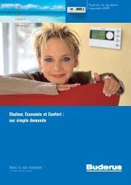 Chaleur, Économie et Confort : sur simple demande - Buderus