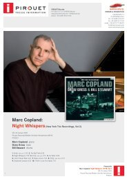 MARC COPLAND – New York Trio Recordings, Vol ... - Marion Hölczl