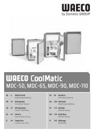 Instrucciones de montaje y de uso - Waeco