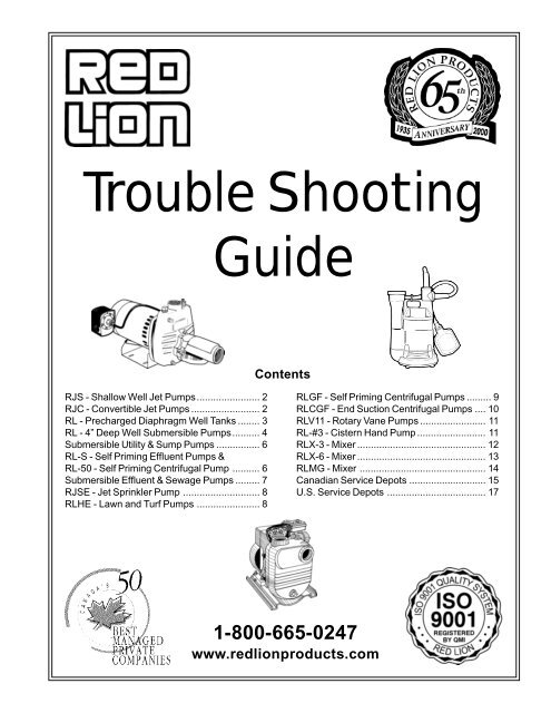 Trouble Shooting Guide - Red Lion