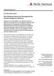 ReGe Hamburg erläutert den Planungsstand des Projektes ...
