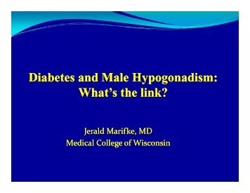 Diabetes and Male Diabetes and Male Hypogonadism - Medical ...