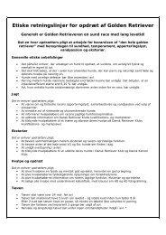 Etiske retningslinjer for opdræt af Golden Retriever