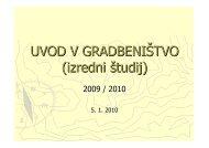 UVOD V GRADBENIÅTVO (izredni Å¡tudij) - Student Info