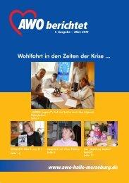 1. Ausgabe März 2010 - AWO Regionalverband Halle-Merseburg eV