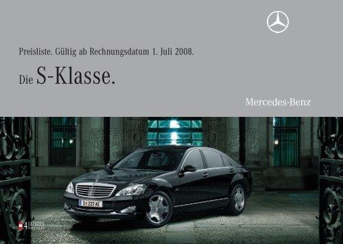Die S - Klasse. - Mercedes Benz