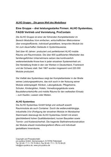 Download PDF - Alho Systembau GmbH