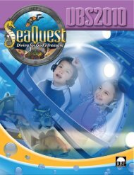 Download 2010 VBS Catalog - Regular Baptist Press