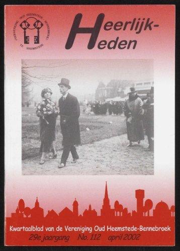 29e jaargang No. 112 april 2002 - Historische Vereniging ...