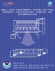 small scale experimental systems for coral research: considerations ...