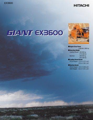 EX3600 - Hitachi