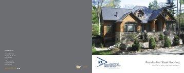Residential Steel Roof Brochure - Agway Metals Inc