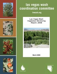Vegetation Monitoring Report, 2008 - Las Vegas Wash Coordination ...