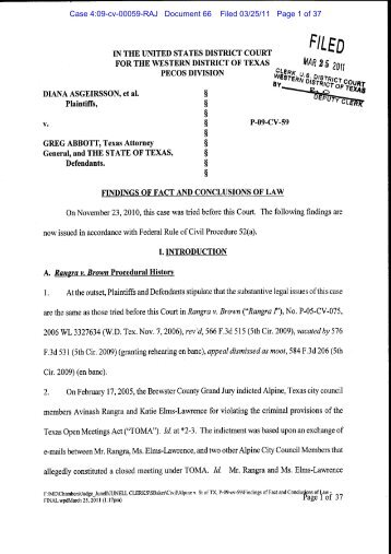 Case 4:09-cv-00059-RAJ Document 66 Filed 03/25/11 Page 1 of 37