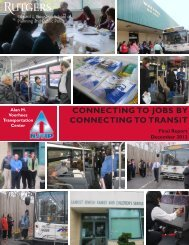 ConneCting to jobs by ConneCting to tRansit - John J. Heldrich ...