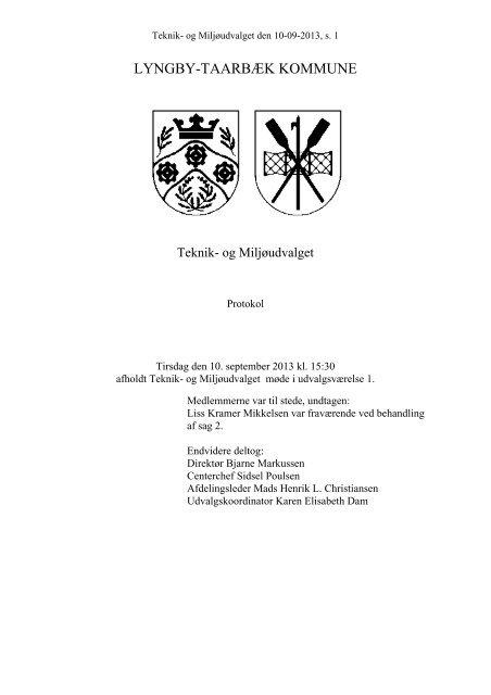 LTK publicering - Møder/dagsordener - Lyngby Taarbæk Kommune