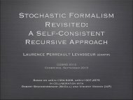Stochastic formalism revisited: a self-consistent recursive approach