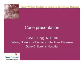 Luise E. Rogg - Duke Department of Pediatrics