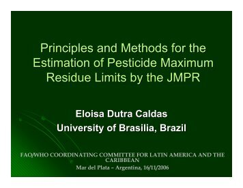 Principles and Methods for the Estimation of Pesticide ... - Cclac.org