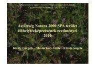 Az Őrség Natura 2000 SPA terület élőhelytérképezésének ...