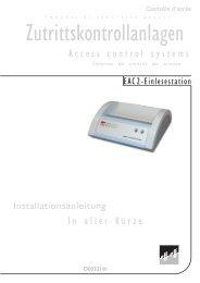 Zutrittskontrollanlagen - Ikon