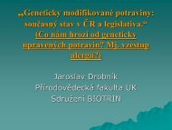"""Geneticky modifikované potraviny: současný stav v ČR a legislativa ..."