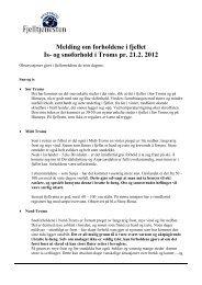 Is- og snøforhold Troms uke 8 2012 - Blogg - Statskog