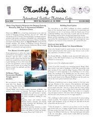 June Newsletters - Urban Dharma