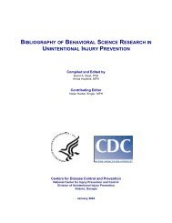 bibliography of behavioral science research in unintentional injury ...