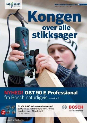 GST 90 E Professional fra Bosch naturligvis se side 3