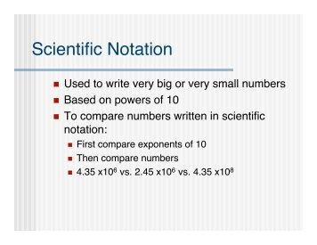 Writing and Comparing Numbers in Scientific Notation - ODE - Ohio ...