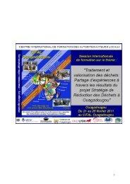 La filière papiers cartons - CIFAL Ouagadougou