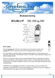 Bruksanvisning wm 100 200 300.pdf - meteo.no
