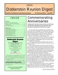 2004 Dobberstein Reunion Digest - Freepages - Ancestry.com