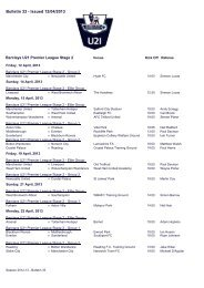 Bulletin 33 - Issued 12/04/2013 - Premier League