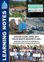 Solid Waste Management Master Class-Learning Note - MILE