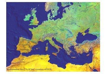 Mediterranean Sea (2.5x106 km2) (courtesy of DLR) - Medclivar