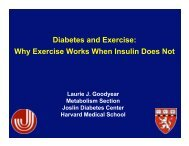 Diabetes and Exercise: Why Exercise Works When Insulin Does Not