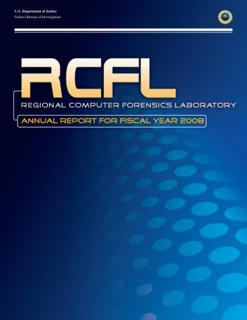 ANNUAL REPORT FOR FISCAL YEAR 2008