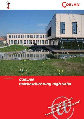 COELAN- Holzbeschichtung High-Solid - neser-ofs.de