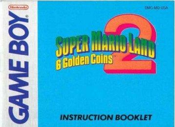 Super Mario Land 2 - 6 Golden Coins - Manual - GB - Game Boy Land