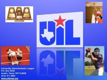 (512) 471-5883 www.uiltexas.org - Texas Girls Coaches Association