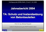 Jahresbericht 2004 TA: Schutz und Instandsetzung von ... - IBAC