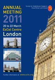 2011 - Society for Cardiothoracic Surgery