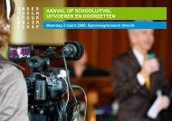 AAnvAl op SchooluitvAl uitvoeren en doorzetten