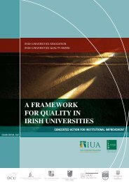 A Framework for Quality in Irish Universities - European University ...
