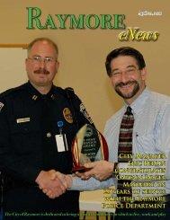 City Manager Eric Berlin congratulates Captain ... - City of Raymore