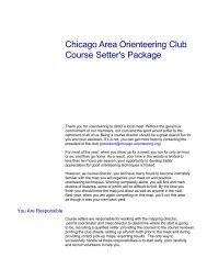 Course Setter's Packet - Chicago Area Orienteering Club