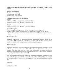 PACKAGE INSERT TEMPLATE FOR SALBUTAMOL ... - BPFK
